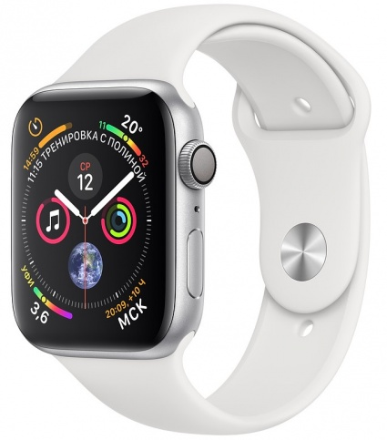 Apple Watch Series 4 GPS 40mm Aluminium Case with Sport Band White в магазинах Мегапиксель
